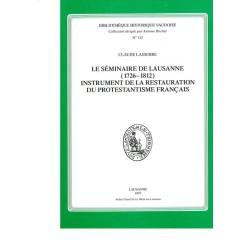 Le séminaire de Lausanne (1726-1812)